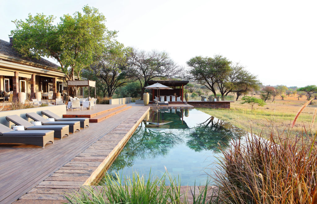 Singita Serengeti House swimming pool